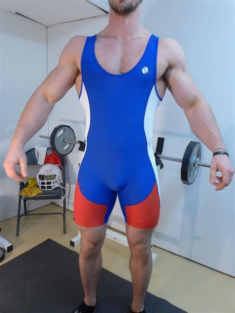 Croo Singlet Spandex Spandek mens white blue large spandex grappling athletic singlet ebay
