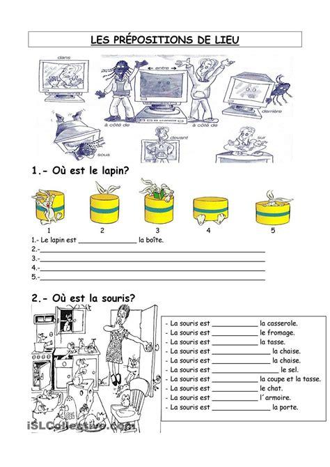 exercices de thme grammatical les pr 233 positions de lieu fiche d exercices fiches p 233 dagogiques gratuites fle fiches de