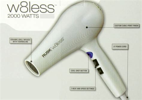 Rusk W8less Hair Dryer featured professional hair skin care products infiniti