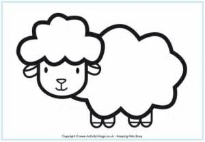 coloring page of a sheep search
