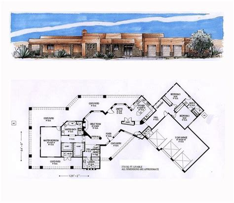 santa fe house plans 49 best images about santa fe house plans on front courtyard house plans and square