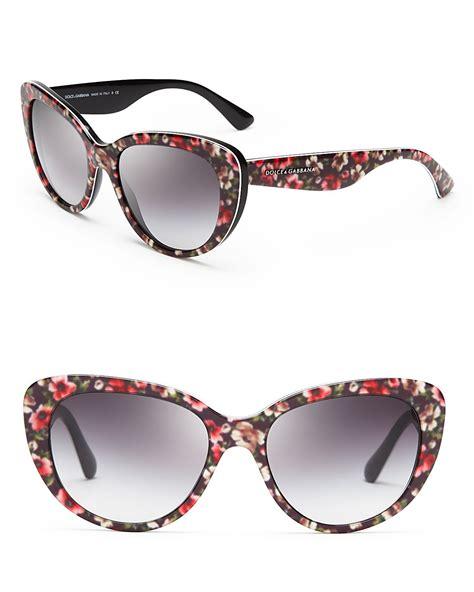 Kacamata Dolce Gabana Dg Flower Hitam lyst dolce gabbana floral cat eye sunglasses