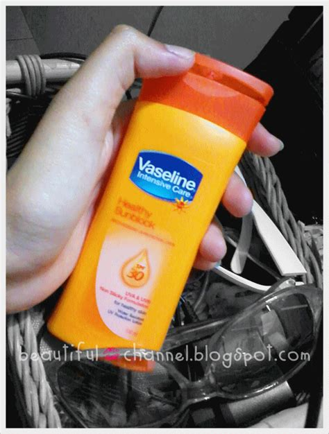 Harga Sunblock Vaseline by Beautiful Channel Review Vaseline Intensive Care Healthy