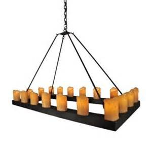 Rectangular Candle Chandelier Candle Chandelier Rectangle Steel Partners