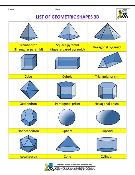 printable shapes printable 3d shapes