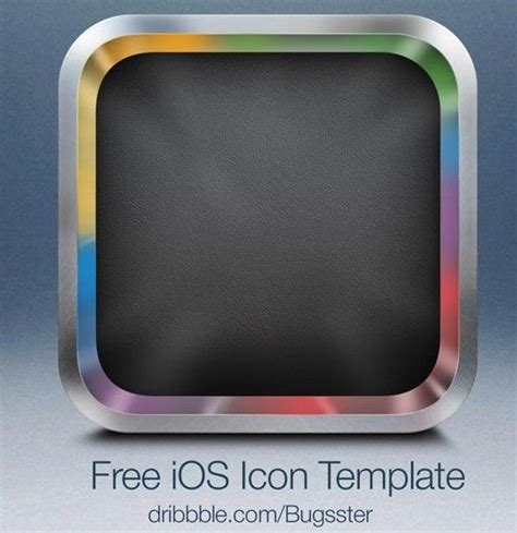 layout app with borders sleek blank ios app icon with metal border psd template