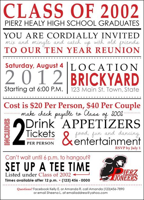 64 best images about high school reunion invites on