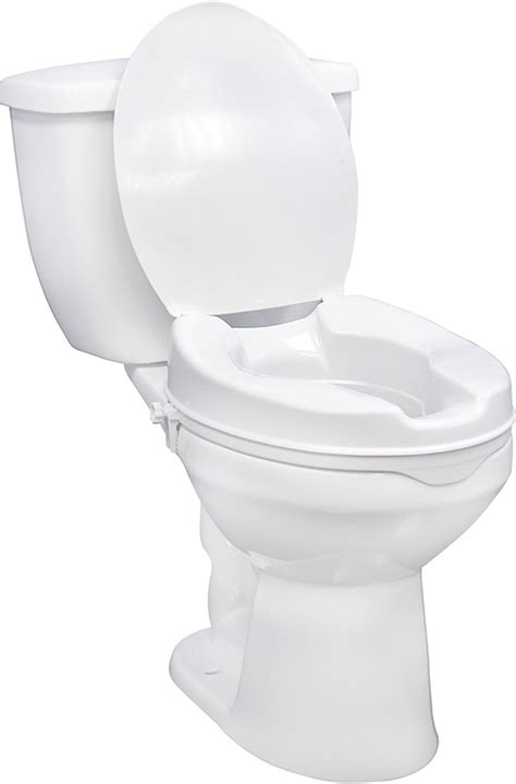 bariatric size raised toilet seat with lid