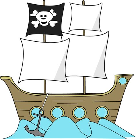 boat themed clipart pirate ship in the water clip art pirate ship in the