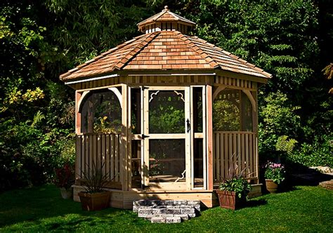 screened gazebo kits screened gazebo kits octagon outdoor living today