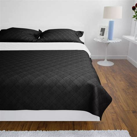copriletto nero articoli per copriletto reversibile nero bianco 220 x 240
