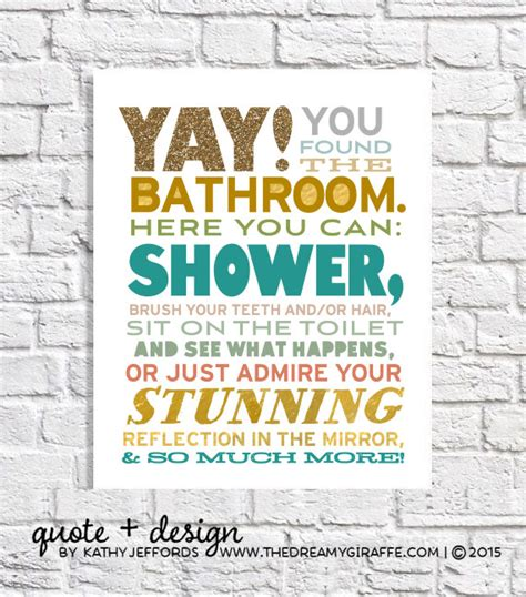 funny bathroom posters funny bathroom art for the bathroom modern by thedreamygiraffe