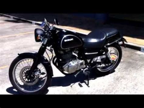 Suzuki Tu250x Custom My Suzuki Tu250x Cafe Racer Custom Black