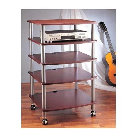 5 Shelf Rack by Ar405 5 Shelf Audio Rack With Casters Ar405x