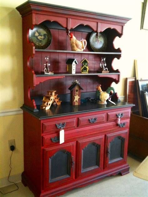 red chalk painted china cabinet emperor s silk and graphite hutch done with chalk paint