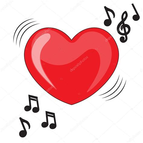 clipart note musicali illustrazione di cuore con note musicali musica cuore