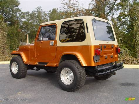 1988 copper orange jeep wrangler laredo 4x4 746836 photo 5 gtcarlot car color galleries