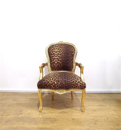 animal print chairs uk vintage retro louis xv style chair with leopard