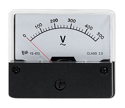 ys 670 ac 0 500v analog voltmeter panel meter voltage