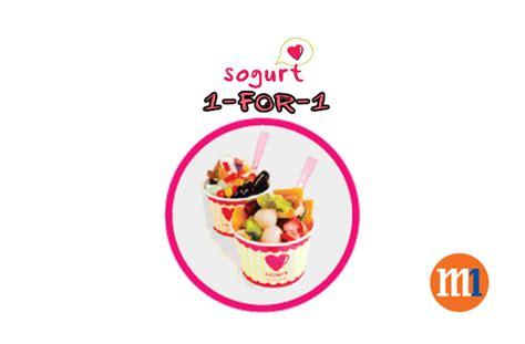 m1 new year promotion m1 1 for 1 frozen yogurt at sogurt till 31 dec 2015
