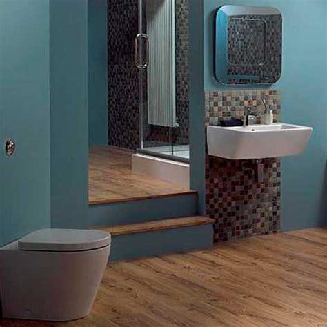 Blue brown bathroom 2017 grasscloth wallpaper