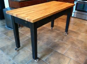 kitchen island rolling rolling kitchen island with cherry butcher block top