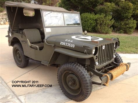Willys Mb Jeep 1944 Willys Mb Jeep For Sale Militaryjeep