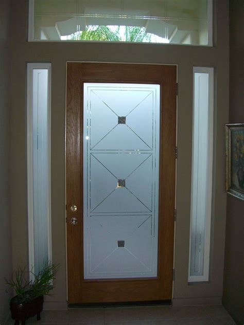 Glass Panel Doors Exterior Etched Glass Entry Door Windows Frosted Front Doors Frosted Glass Glass Design