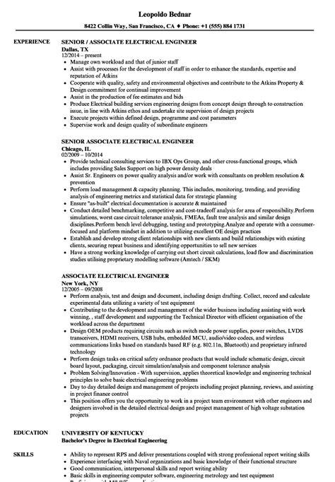 sample resume for a midlevel electrical engineer monster com