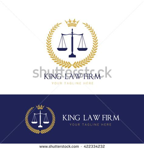 law firm logolaw office logolaw logo stock vector