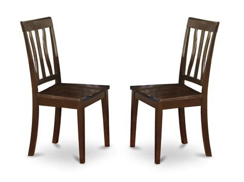 Dining Chair Set Set Of 2 Antique Dinette Kitchen Dining Chairs With Wood Seat In Cappuccino Ebay