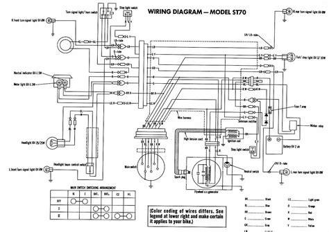 honda st70 electrical wiring diagram circuit wiring diagrams