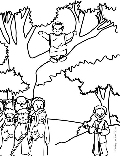 zacchaeus come down coloring page 171 crafting the word of god