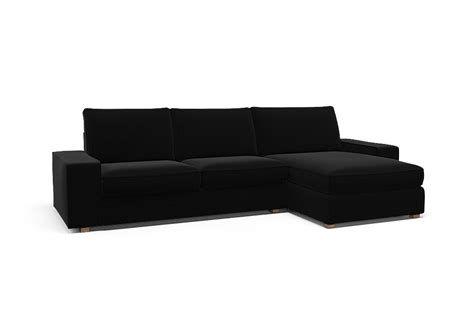 two seat sofa and chaise longue kivik two seat sofa and chaise longue right cover