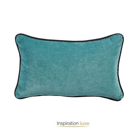 coussin tapissier rectangulaire coussins turquoise