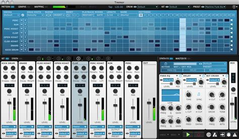 free drum pattern vst fxpansion tremor software drum machine for pc and mac
