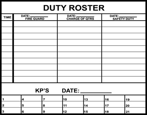 Status And Tracking Boards Army Training Support Board Roster Template