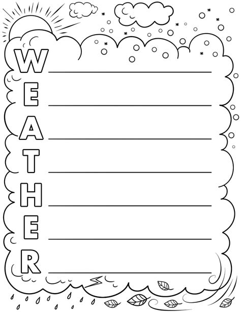 Weather Acrostic Poem Template Free Printable Papercraft Templates Acrostic Poem Template