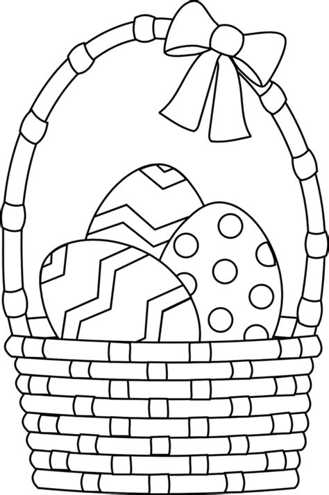 basket of eggs coloring page colour in the easter eggs the student room