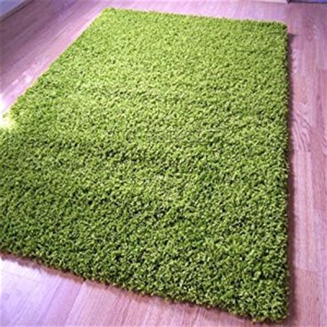 Cheap Green Rugs by Yazz Plain Apple Green Shaggy Pile Rugs 120x170cm Cheap