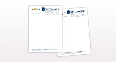 Offiziellen Briefbogen Briefpapier As Automobile Gute Werbung Melle