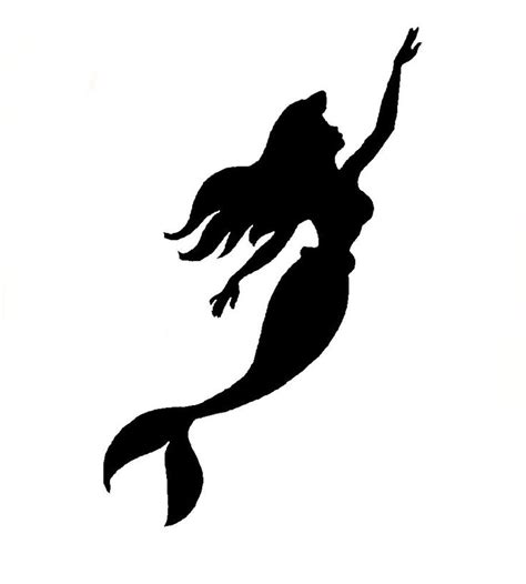 little mermaid silhouette tattoo best 25 mermaid silhouette ideas on