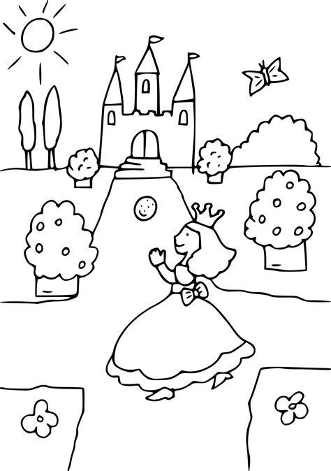 Coloriage Princesse Chateau 224 Imprimer Sur Coloriages Info Coloriage Chateau Disney L