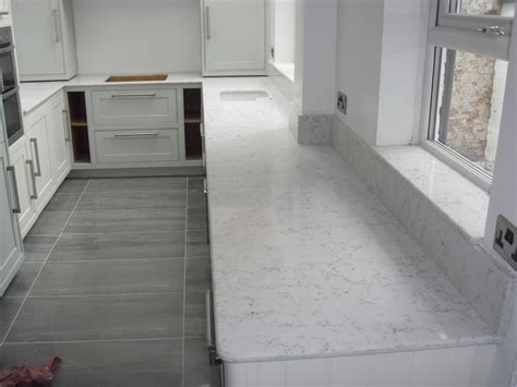Lyra Countertops by Silestone Quartz Worktops In Lyra 20mm Thick With Demi