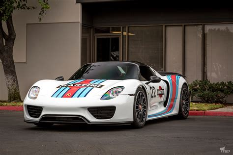 martini porsche 918 porsche 918 spyder martini livery protection and graphics