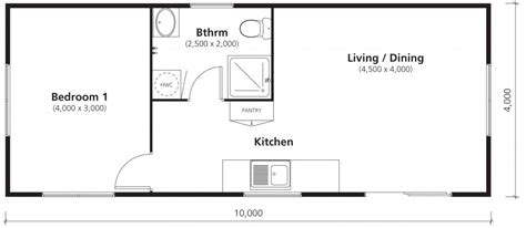 sleep out floor plans affordable 1 bedroom 40sqm new transportable home