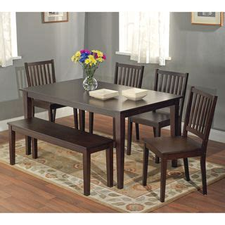 metropolitan 6 piece dining set with bench espresso 1000 images about chef s in the kitchen on pinterest