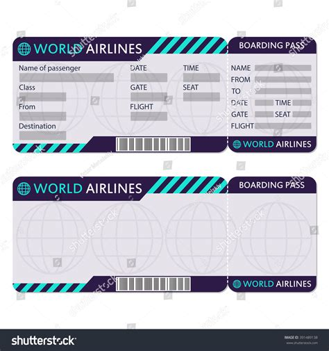 plane ticket template airline ticket template word free printable timesheet
