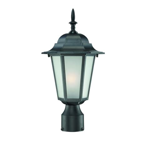 outdoor column mount lighting fixtures design house maple street black outdoor die cast post