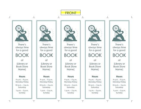 Reading List Office Templates Microsoft Office Bookmark Template